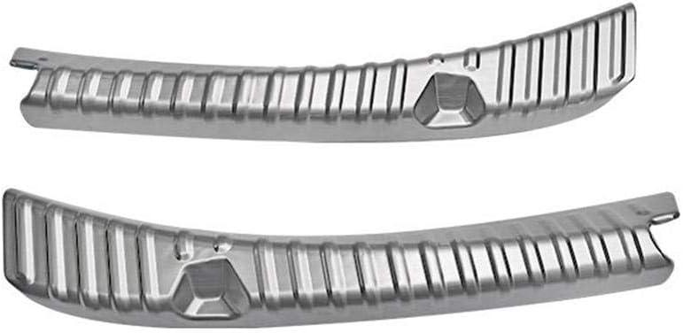 Foonee Protecteur De Pare-Chocs Arri/ère for Tesla Model 3 R/ésistant Aux Rayures Acier Inoxydable Ajustement Parfait D/écoration Accessoires