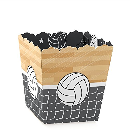 Bump, Set, Spike - Volleyball - Party Mini Favor Boxes - Baby Shower or Birthday Party Treat Candy Boxes - Set of 12 ()