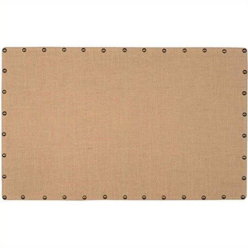 - Riverbay Furniture Large Nailhead Corkboard in Burlap