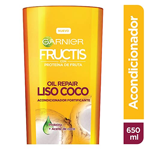 Garnier Fructis Acondicionador Oil Repair Liso Coco, 650 ml