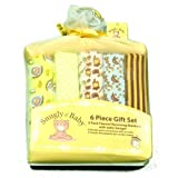 5 pack Baby Flannel 100% Cotton Receiving Set of 5 yellow Blankets