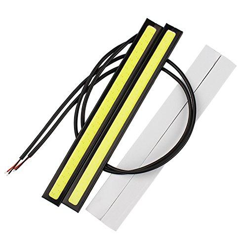 SKS Distribution® 217cm LED COB DRL Tagfahrlicht DC12V Externe Wasserdichte LED Auto Styling Auto Lichtquelle Nebel Bar Lampe?Farbe Silber mit Weiß Licht. SKS Distribution®