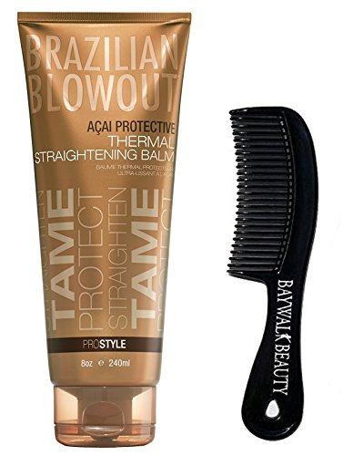 Brazilian Blowout Acai Protective Thermal Straightening Balm 8oz With FREE Shower Comb
