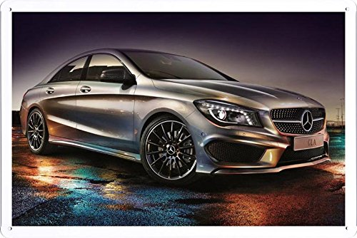 Vehicle Automobile Motor Car Mercedes Benz Cla 250 Amg Sports Package Edition 1 Car Tin Sign Metal Poster Plate (20x30cm) By Auto TinSign