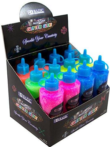 Neon Color Glitter Glue 72 pcs sku# 1858557MA by Bazic