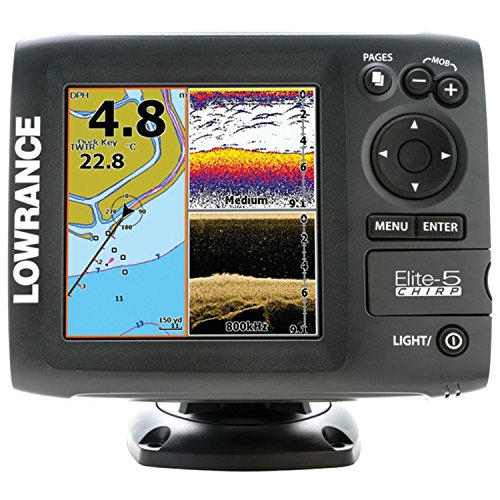 Lowrance Navigationsgerät Elite 5 Chirp Blank W/XD 83/200 455/800, 000-11655-001