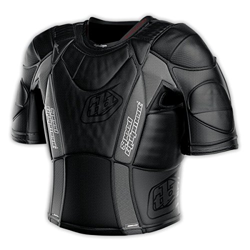 Black//Small Troy Lee Designs UPS 5850 HW Short-Sleeve Shirt Adult Undergarment Off-Road Motorcycle Body Armor