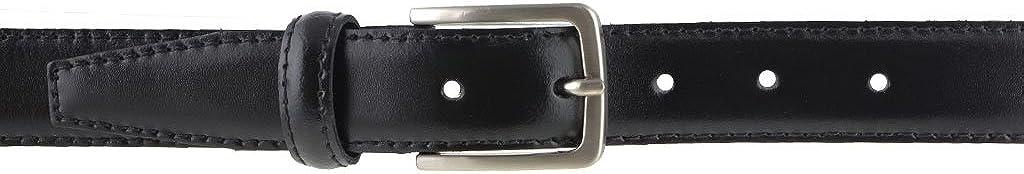 La Bottega del Calzolaio Cintura in pelle di vitello nera 3 cm semi lucida da uomo per cerimonie elegante artigianale made in Italy