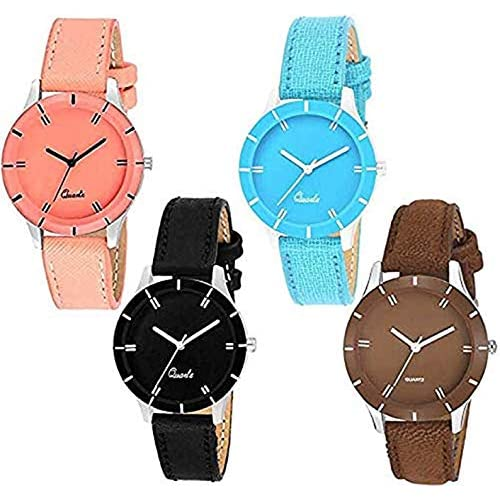 51vrCR337%2BL. SS500  - Acnos Analogue Multicolour Dial Women's Watch - Pack of 4