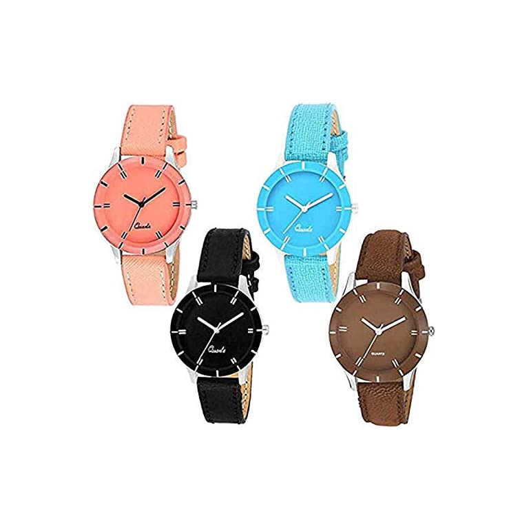 51vrCR337%2BL. SS768  - Acnos Analogue Multicolour Dial Women's Watch - Pack of 4