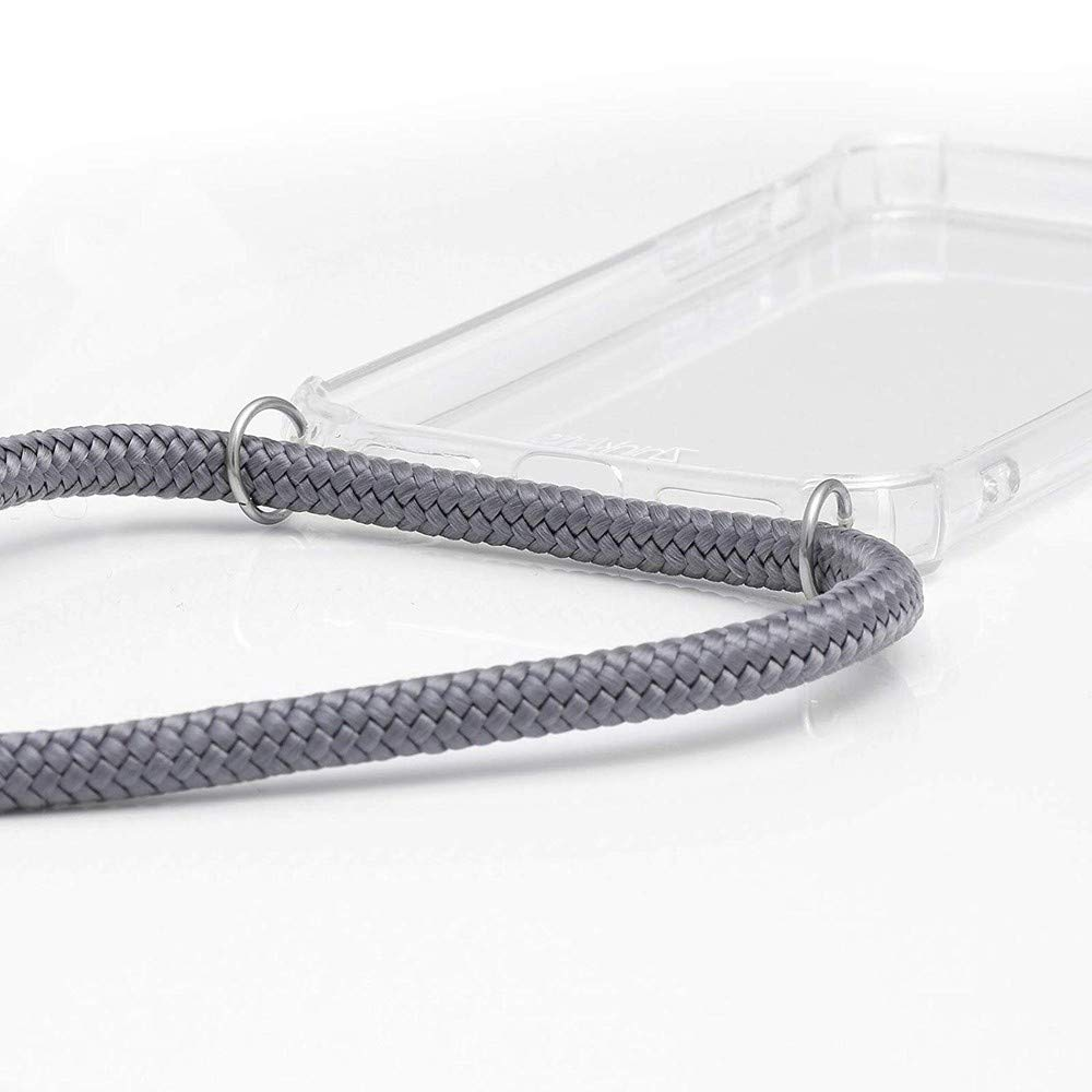 Ultrafina Suave TPU Funda de movil con Colgante XTCASE Carcasa con Cuerda para Huawei P20 Pro Silicona Transparente Moda y Practico - Rojo Anti-rasgu/ños Anti-Choque