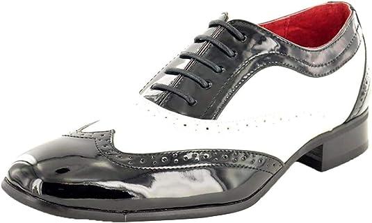TALLA 42 EU. My Pair - Zapatos de Cordones para Hombre Negro Negro