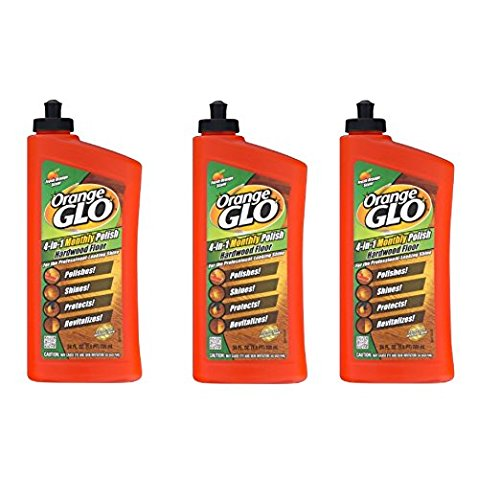 Orange Glo Hardwood Floor 4-in-1 One Easy Step Cleaner Fresh Orange Scent - 3PC - Orange Floor Cleaner