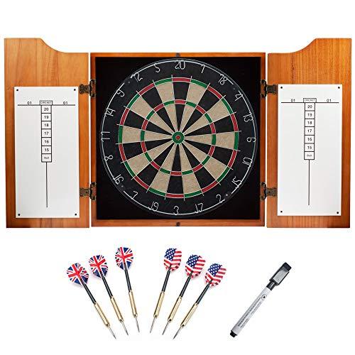solid wood dartboard cabinet set