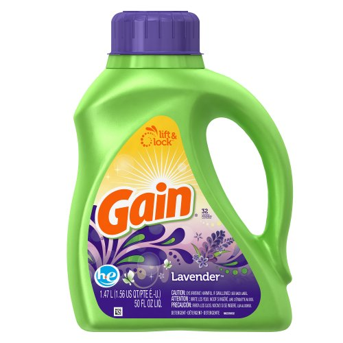 with FreshLock for High Efficiency Machines Original Liquid Detergent 25 Loads 40 Fl Oz(Pack of 6) by GAIN
