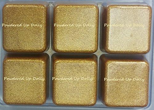 PACK of 6 - SPARKLE GOLD Mica Color Cubes for Melt & Pour Soap DIY Colorant Tint Block Mp MP Melted Bath Clear Bar - Color Tints