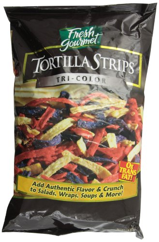 Fresh Gourmet Tortilla Strips, Tri Colored, 1 Pound