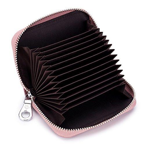 [imeetu] カードケース じゃばら ミニ型 12枚収納 小銭入れ 携帯便利 牛本革 磁気防止 スキミング防止 短財布 メンズ レディース Mini2