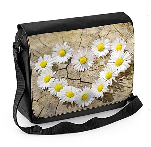 Messenger Laptop Bag Love Daisies Heart Px6nqw7St