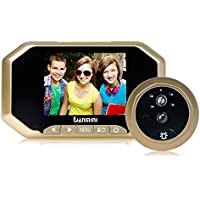 DANMINI 3.5 LCD 720P Digital Peephole Viewer 1.0MP 160° PIR Door Eye Doorbell Camera IR Night Vision Motion Detection Photo Taking/Video Recording for Home Security