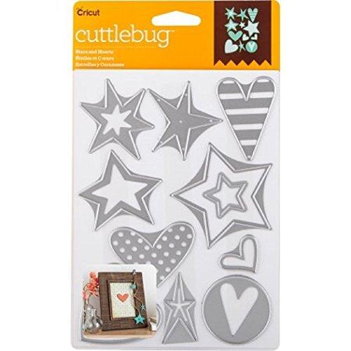 Cricut Cuttlebug Dies, Stars & Hearts