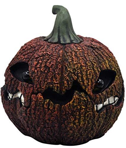 Moonrays 97028 Solar Eerie Rotten Jack-O-Lantern, Weathered Orange