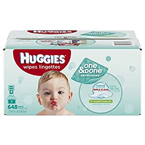Amazon Com Huggies One Amp Done Refreshing Baby Wipes