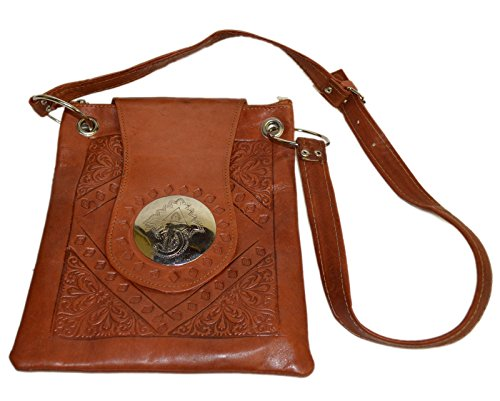 Bag Hand Bags Medium Shoulder and Purses Brown Leather Made Moroccan xBC0wqC