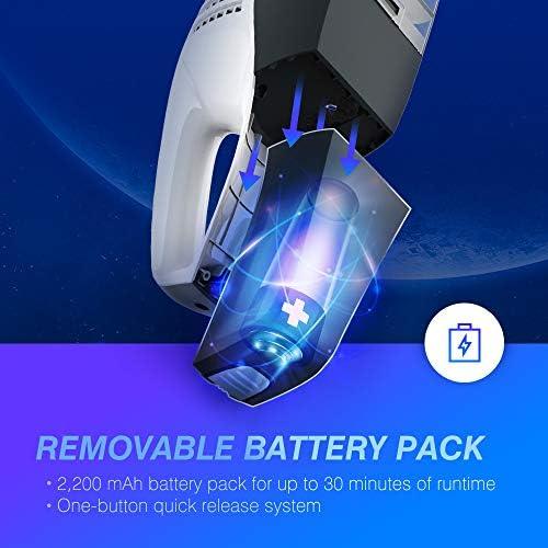 Unique Detachable Battery Tech 7KPa 100W Po... NOVETE Handheld Vacuums Cordless