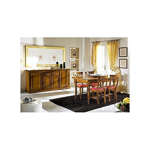 Esszimmer vollständige Wohnzimmer Arte Povera komplett Massivholz Tisch Stühle Anrichte