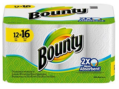 Bounty White Paper Towels Giant Rolls (12=16) by Bounty [並行輸入品] B00ZDVRZ5E