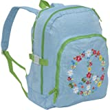 Peace & Love Large Blue Backpack