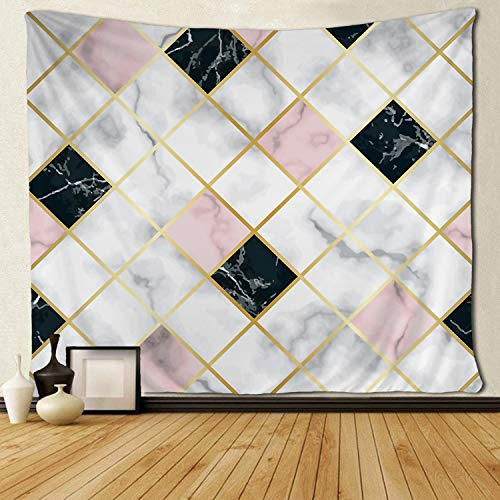 - SARA NELL Wall Tapestry Marble Luxury Geometric Rose Gold Black Tapestries Hippie Art Wall Hanging Throw Tablecloth 60X90 Inches for Bedroom Living Room Dorm Room
