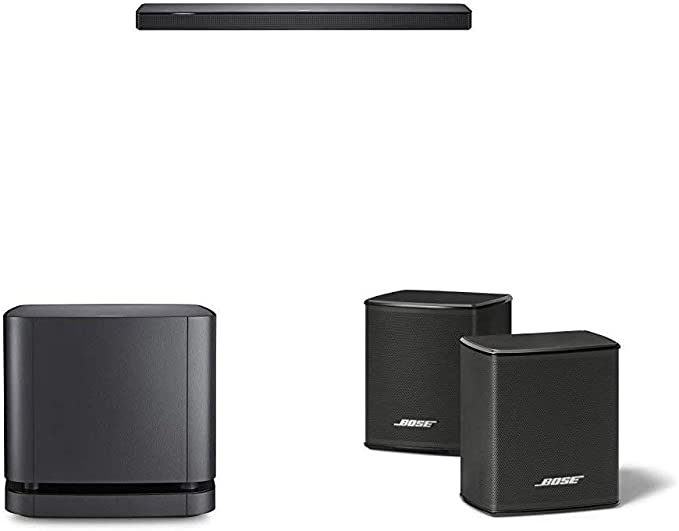 Bose - Barra de sonido 500, Bluetooth y Wifi, negro + Bass Module 500, inalámbrico, negro + Bose 809281-2100 - Surround Speakers, negro