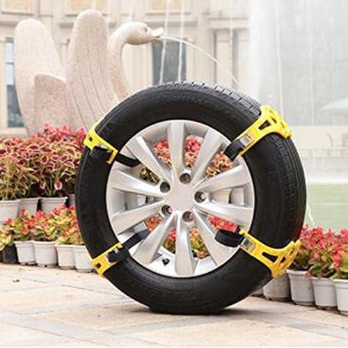 Wewoo Cadenas de Nieve para el Coche Familia Amarillo Antideslizantes neumáticos 8pcs: Amazon.es: Coche y moto