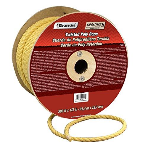 "Lehigh Group PY230 1/2"" x 300' Polypropylene Twisted Rope..."