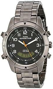 Timex Expedition  - Reloj de cuarzo para hombres, correa de acero inoxidable, color negro