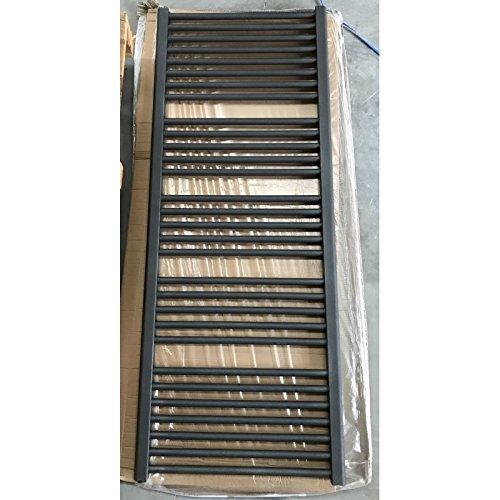 Seche serviette eau chaude acier antharcite S0102 H1537mm L600mm chauffage central 842W FLORES RADSON FL0615-S0102