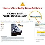 ELLAS HOMES CLEAR CORNER PROTECTORS | High Resistant Adhesive Gel | Best Baby Proof Corner Guards | Stop Child Head Injuries | Tables, Furniture & Sharp Corners Baby Proofing (Ball-Shaped)