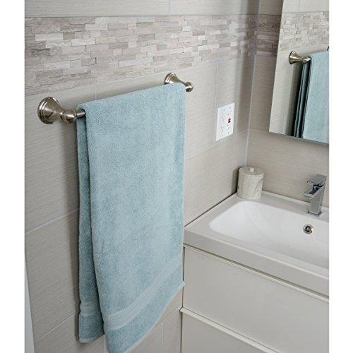 AmazonBasics AB-BR810-SN Towel Bar, 18 Inch, Satin Nickel