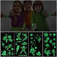 PHOGARY 10 Hojas de Tatuajes temporales para niños Luminoso ...