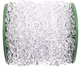 B&S FEEL 200 Feet Roll Clear Crystal Acrylic Party Garland Wedding Centerpiece Bridal Bouquet Decoration