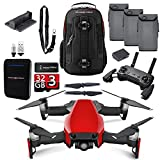 DJI Mavic Air Flame Red Fly More Combo Upgrade Kit w/ Backpack, Remote, 3 Batteries, 32GB MicroSD, Battery Bank, & Landing Pad