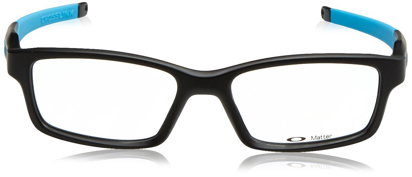 afc5b2a1232 Oakley Glasses Frames Crosslink 8027-01 Satin Black   Sky Blue  Amazon.ca   Sports   Outdoors