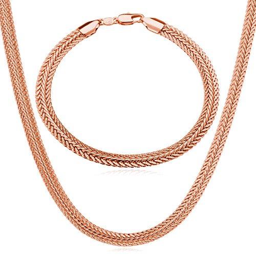 U7 Jewelry Platinum Necklace Bracelet