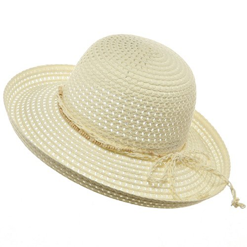 Sewn Braid Toyo Hat-Beige - Toyo Braid Hat Wide