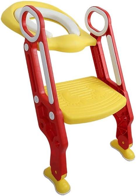 Llxxx WC para NiñosEntrenador de Orinal para bebé, Escalera Ajustable, Entrenador de Asiento de Seguridad para niños, D: Amazon.es: Hogar