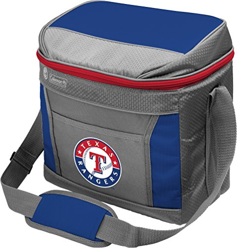MLB Texas Rangers Unisex Coleman 24 Hour - 16 Can Soft Sided Coolercoleman 24 Hour - 16 Can Soft Sided Cooler, Blue/Texas, One Size (Texas Soft Sided Cooler)
