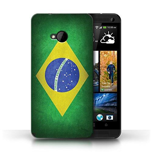 Etui / Coque pour HTC One/1 M7 / Brésil/brésilien conception / Collection de Drapeau