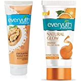 Everyuth Walnut Scrub and Orange Peel Off - Face Clean & Glow Pack